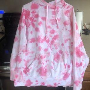 Women's VS Pink Tye Dye Hoodie Size XS